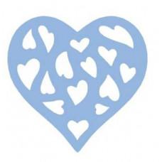 Компостер фигурный силуэтный с эмбоссингом 5см  Сердце (DL-JCDT-42L-006)