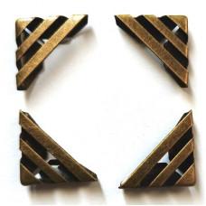 Уголки бронзового цвета Only, с прорезями, 4 шт (93402)