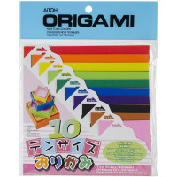 Цветная бумага для оригами Aitoh Разный размер, 100 листов (TS200)