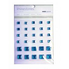 Стразы квадратные KaiserCraft Blue, 6-10мм (SB765)