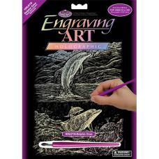 Набор для выцарапывания Royal Brush Holographic Engraving Art Kit,Дельфинья бухта  (HOLOG-18)