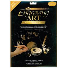 Набор для выцарапывания Royal Brush Blank Engraving Foils, Золотой (BEF810-GOLF)