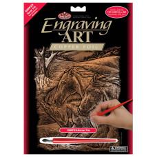 Набор для выцарапывания Royal Brush Copper Foil Engraving Art Kit, Трио лошадей (CPPRFOIL-23)