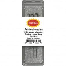 Набор игл №36 для фелтинга Colonial Needle (CNFN36)