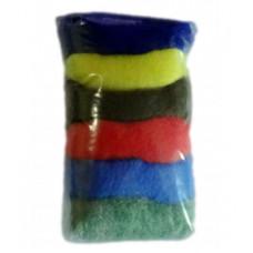 Набор кардочесаной шерсти для валяния 20г №30 АССОРТИ (МШ-NK-030R)
