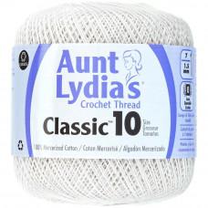 Нитки Aunt Lydias Classic Crochet Size 10 White - Белый (154 1)