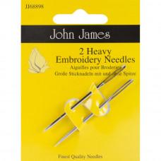Большие иглы для вышивания № 14, 2 шт. John James (JJ68898)