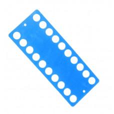 Пластиковый органайзер для ниток Only 20 отверстий, голубой (233405)