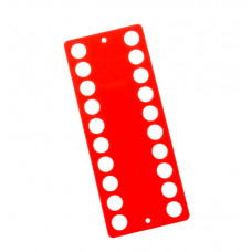 Пластиковый органайзер для ниток Only 20 отверстий, оранжевый (233403)