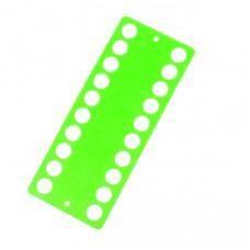 Пластиковый органайзер для ниток Only 20 отверстий, салатовый (233404)