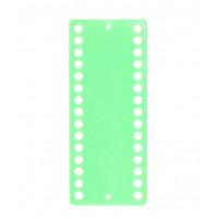 Пластиковый органайзер для ниток Only 30 отверстий, салатовый (43302)