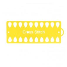 Пластиковый органайзер для ниток Only 20 отверстий, Капельки, желтый (53402)