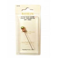 Счетная игла (пин) Bohin Jewelry Pin Green (26189)