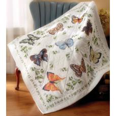 Набор для вышивки Bucilla Одеяльце Коллекция бабочек (45178)