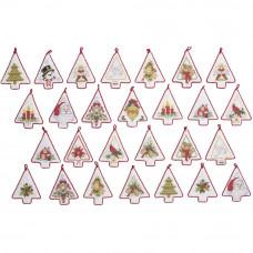 Набор для вышивки Bucilla Рождественские мини-елочки (86986E)
