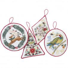 Набор для вышивки Bucilla Праздничные украшения - 4 штуки (86892E)