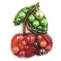 Набор для изготовления брошки Crystal Art Вишенька (БП-243)
