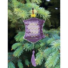Набор для вышивания крестиком Чарівна мить Сиреневый фонарик (Т-24)