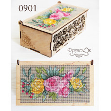 Набор для вышивки Шкатулка Розы (0901)