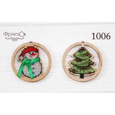 Игрушки Снеговик и Елочка (1006)