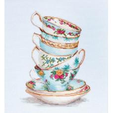 Бирюзовые чайные чашки (B2325)