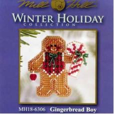 Набор для вышивания Mill Hill Пряничный мальчик (MH186306)