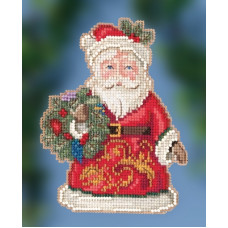 Набор для вышивания Mill Hill Winter Wishes Santa (JS202014)