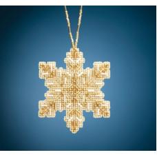 Набор для вышивания Mill Hill Golden Snowflake (MH212012)