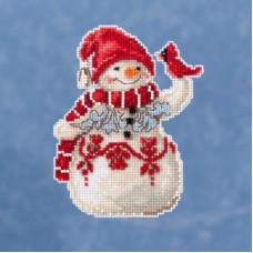 Snowman With Cardinal by Jim Shore (JS201914)