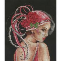Девушка в шляпке с красными розами Vervaco (76342)