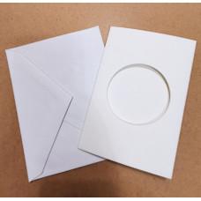 Заготовка для открытки Only Белая, круг, малая (8447)