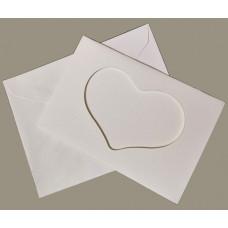 Заготовка для открытки Only Белая, сердце, малая (5586)