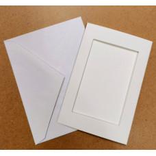 Заготовка для открытки Only Белая, прямоугольник (7297)