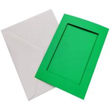 Заготовка для открытки Only Зеленый, прямоугольник малый (7301)