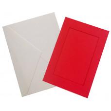 Заготовка для открытки Only Красный, прямоугольник малый (7300)