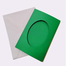 Заготовка для открытки Only Зеленая, овал, большая (5548)