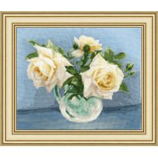 Набор для вышивания крестиком Золотое руно Чайные розы (ЛЦ-079)