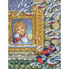 Набор для вышивания крестом М.П.Cтудия Зимний вечер (М-124)