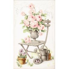 Набор для вышивания крестиком Чарівна мить Летний натюрморт с розами (М-355)