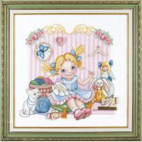 Набор для вышивания крестиком Чарівна мить Юная рукодельница (М-274)