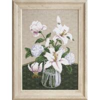 Набор для вышивания крестиком Чарівна мить Таинство белых цветов (М-280)