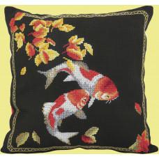 Набор для вышивания крестиком Чарівна мить Подушка Два карпа (М-317)