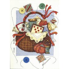 Набор для вышивания крестиком Чарівна мить Корзинка вдохновения (М-391)
