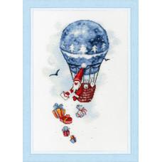 Набор для вышивания крестиком Золотое руно Воздушный шар (М-010)