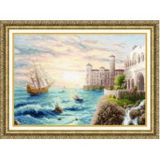 Набор для вышивания крестиком Золотое руно Морской прибой (ММ-025)