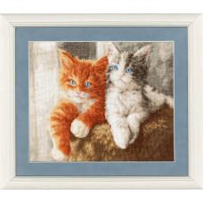 Набор для вышивания крестиком Золотое руно Пушистые котята (НЛ-047)