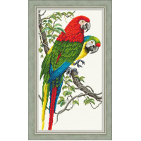 Набор для вышивания крестиком Сделано с любовью Попугаи Ара (Ж - 10)