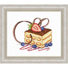 Набор для вышивания крестиком Сделано с любовью Тирамису (ВИ-54)