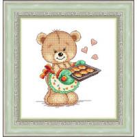 Набор для вышивания крестиком Сделано с любовью Мишкины пирожки (МК-33)