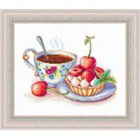 Набор для вышивания крестиком Сделано с любовью Летний десерт с черешней (ВИ-58)